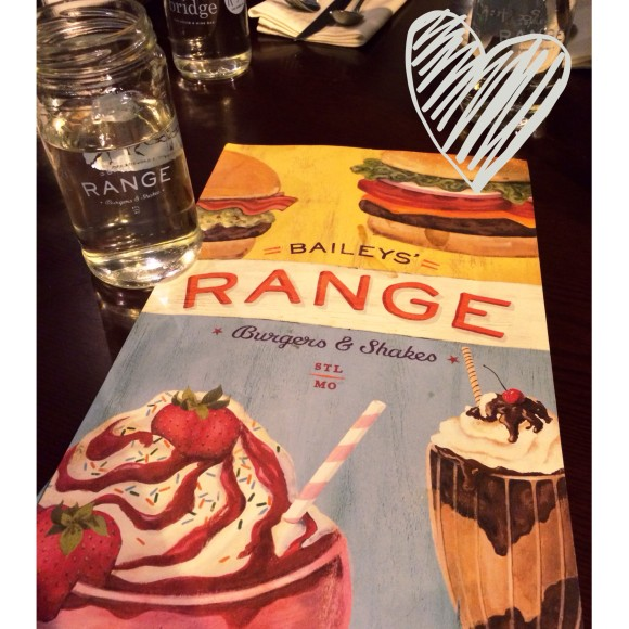 Bailey's Range gluten-free menu