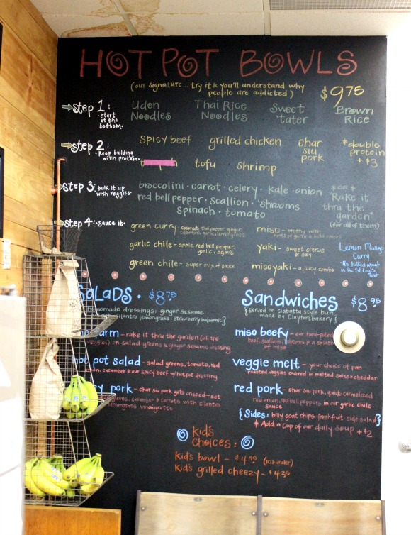 Hot Pot menu