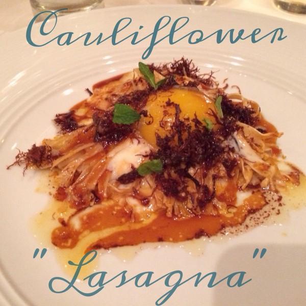 """Niche gluten-free cauliflower """"lasagna"""""""