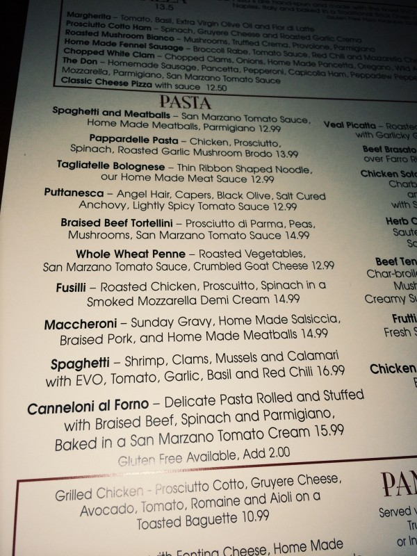 Mia Sorella St. Louis - Gluten-free Menu Options | Gluten-free Pearls